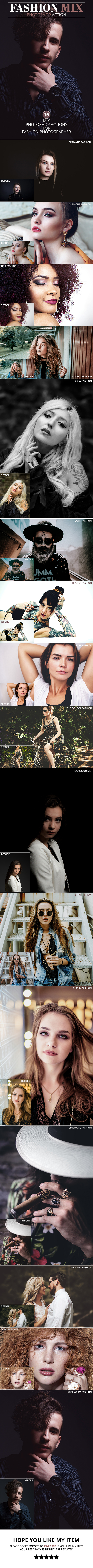 16 Fashion Mix Photoshop Actions - Photo Effects Actions