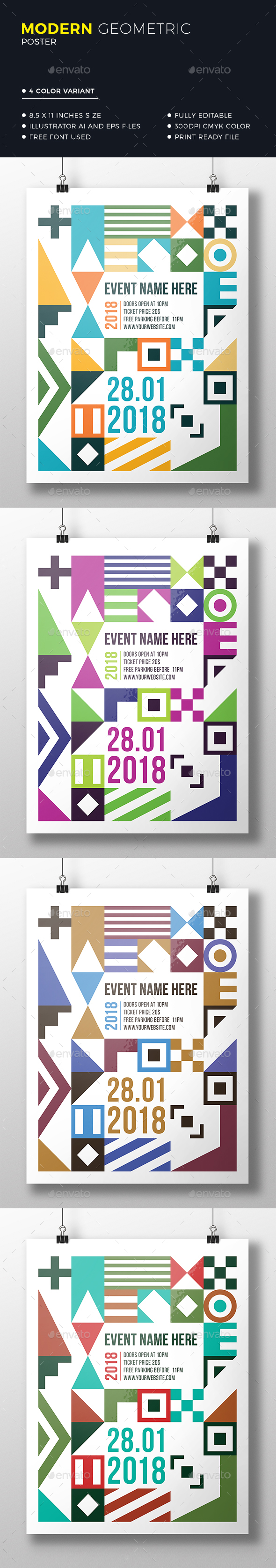Geometric Poster / Flyer - Events Flyers
