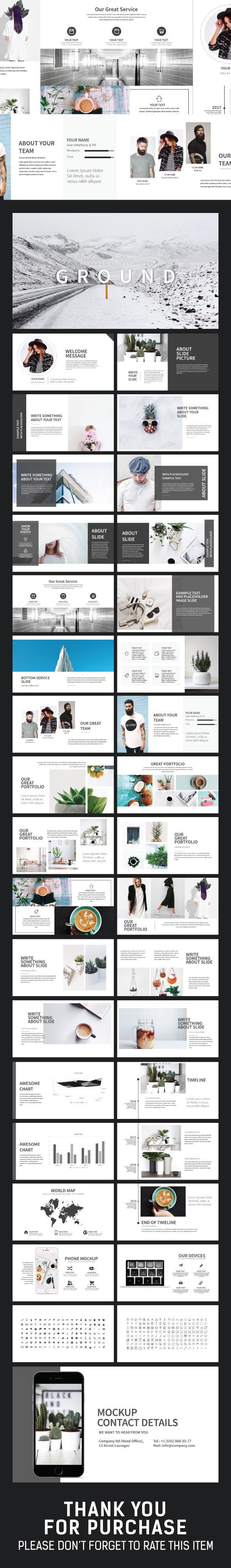 Ground Minimal Presentation - Creative PowerPoint Templates