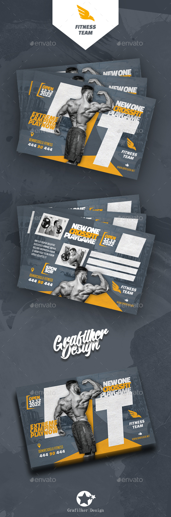 Fitness Time Postcard Templates - Cards & Invites Print Templates