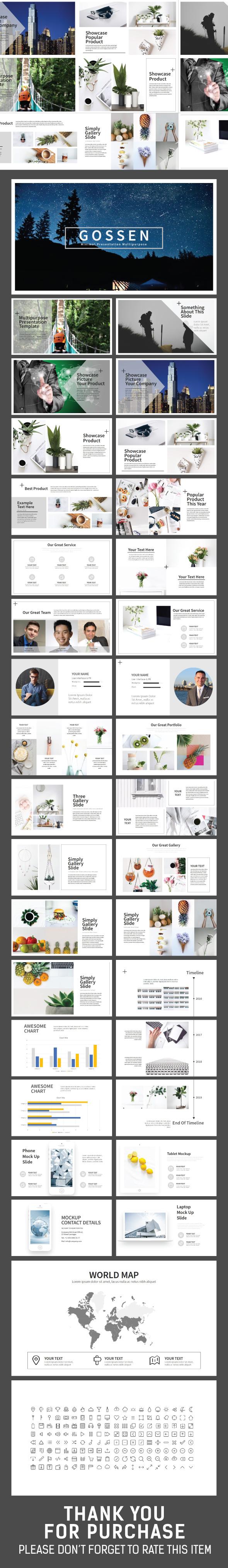 Gossen Minimal Presentation - Creative PowerPoint Templates