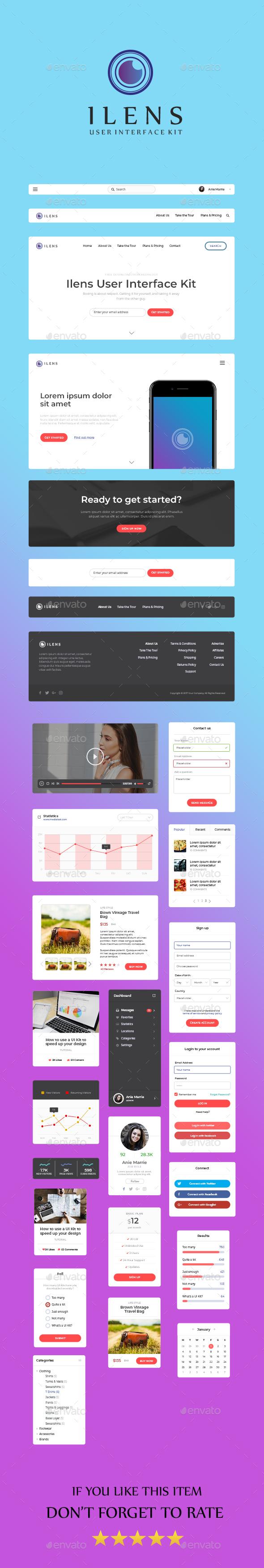 Ilens Dashboard UI KIT - User Interfaces Web Elements