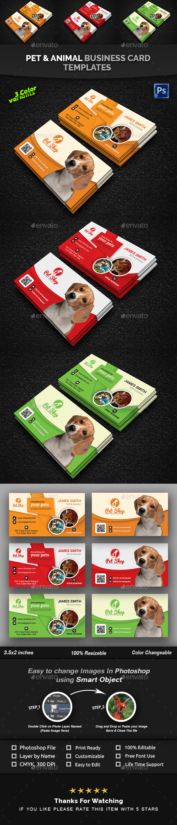 Pet Business Card | Animal Business Card Templates - Creative Business Cards