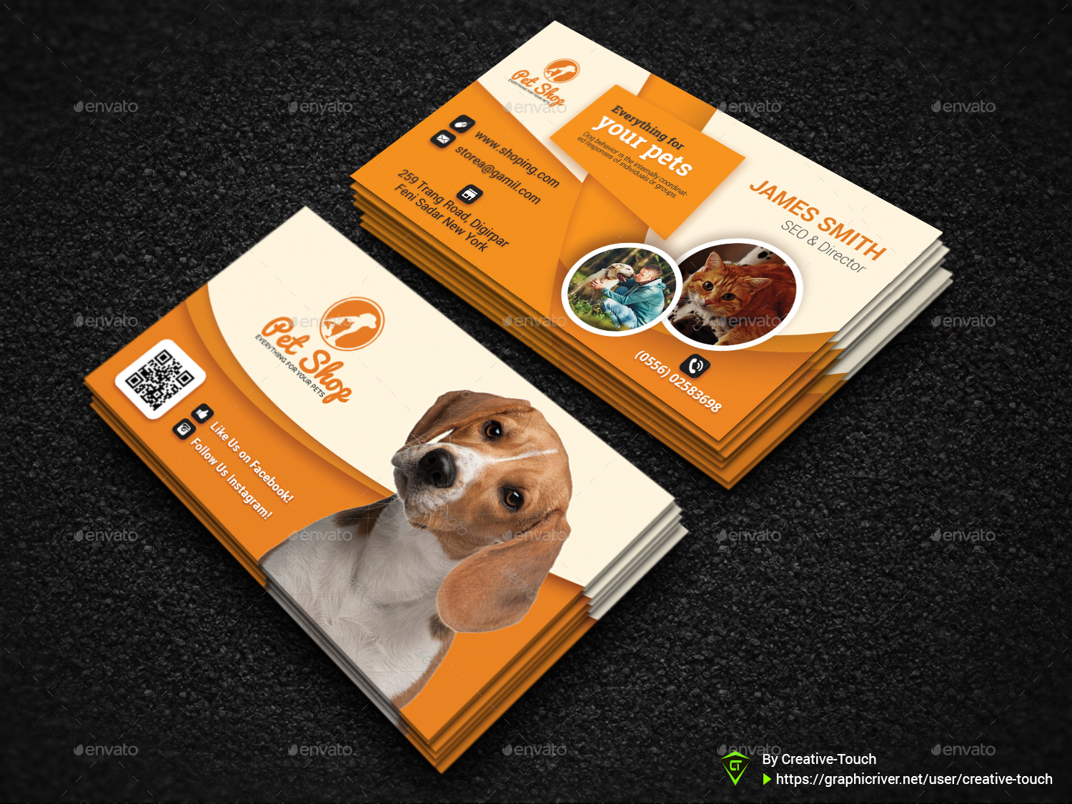 Pet Business Card | Animal Business Card Templates by Creative-Touch