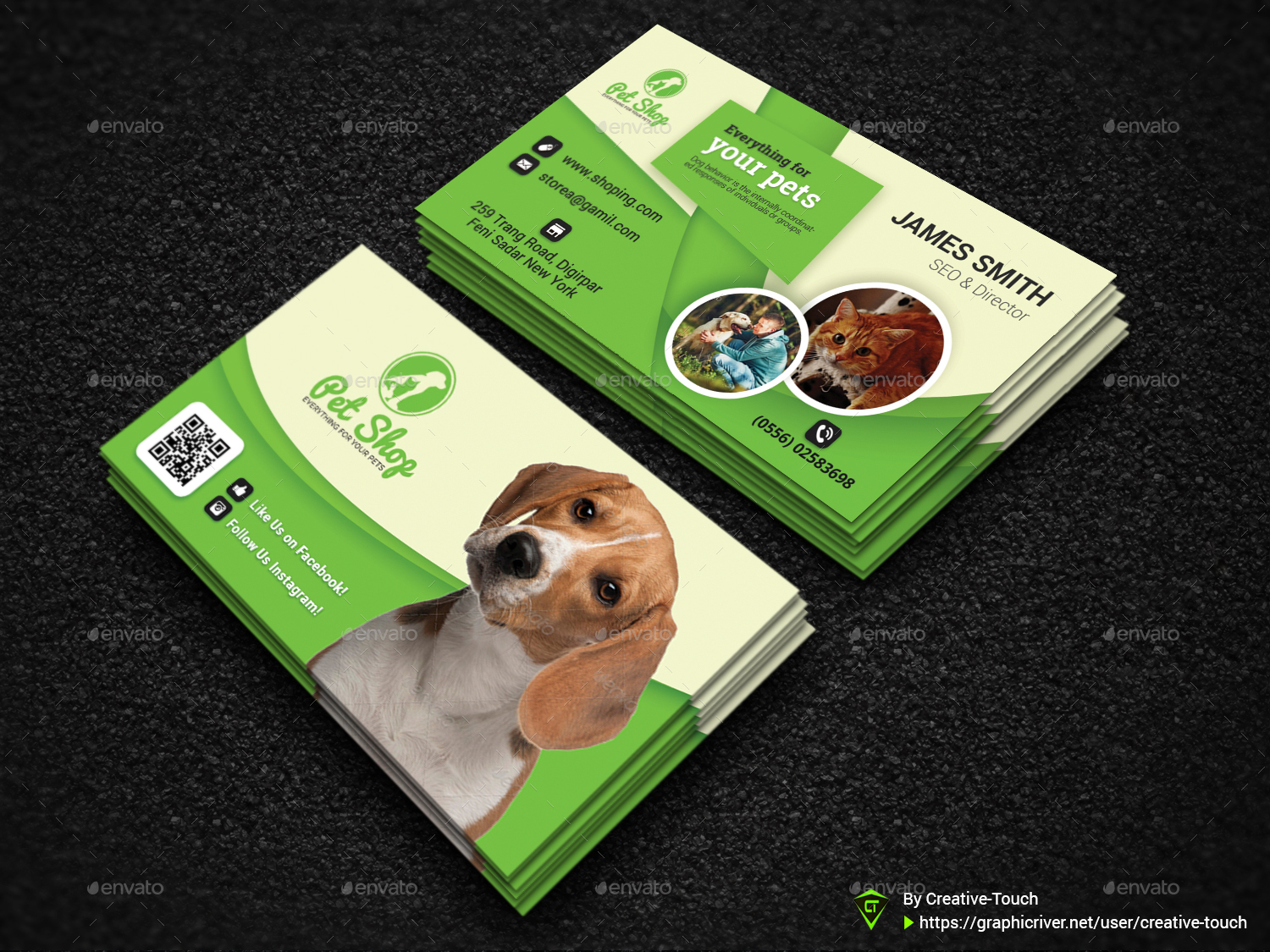 Pet business card animal business card templates by creative touch pet business card animal business card templates colourmoves