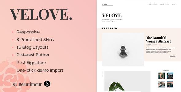 Velove - A Responive WordPress Blog Theme