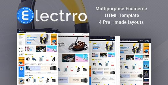 Image of Electrro - Responsive Multipurpose E-Commerce HTML5 Template