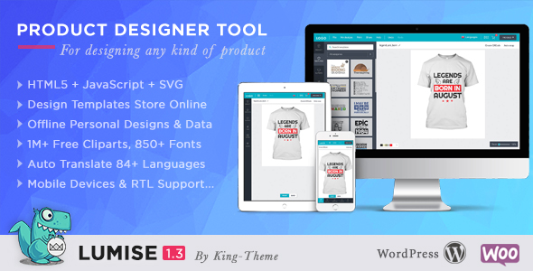 CodeCanyon Lumise Product Designer WooCommerce WordPress 21222684