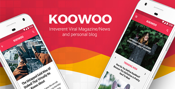 Blog, News & Magazines IONIC 3 App | Koowoo - CodeCanyon Item for Sale