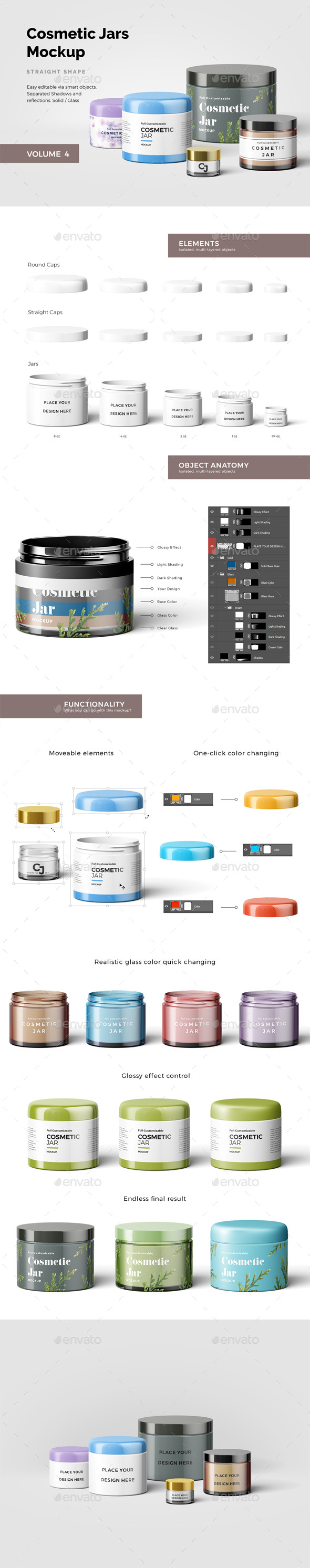 Cosmetic Jars Mockup - Beauty Packaging