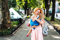 Woman hugs her daughter, holding her in her arms - PhotoDune Item for Sale