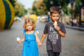 little boy and little girl with ice cream - PhotoDune Item for Sale