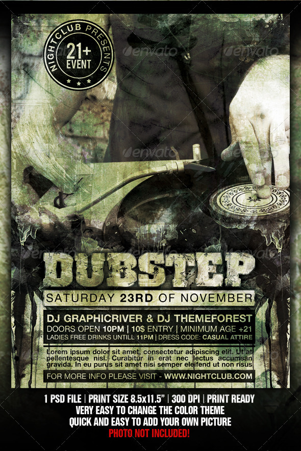 Dubstep Party Flyer - Flyers Print Templates