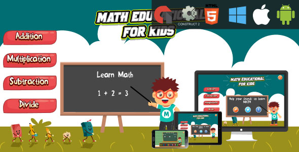 CodeCanyon Math Education For Kids HTML5 Educational Game capx 21246442