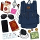 Vector Cartoon Travel Set. Personal Belongings for