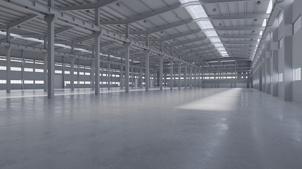 Factory Hall Interior 5 - 3DOcean Item for Sale