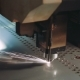 Plasma Laser Cutting Metal Sheet with Sparks - VideoHive Item for Sale