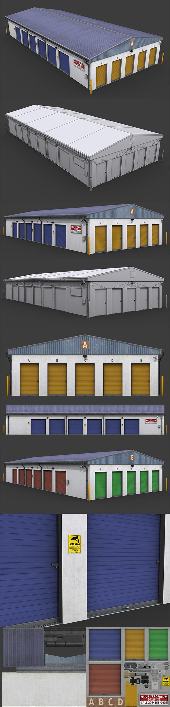 Selfstorage Warehouse Building - 3DOcean Item for Sale