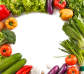 square frame made from fresh vegetables - PhotoDune Item for Sale