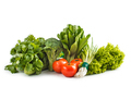 fresh raw green vegetables with tomato - PhotoDune Item for Sale