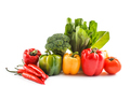 various paprika with chili, broccoli, pakchoi, and tomato - PhotoDune Item for Sale