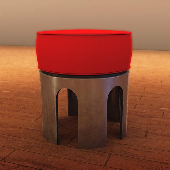 Metal leg stool - 3DOcean Item for Sale