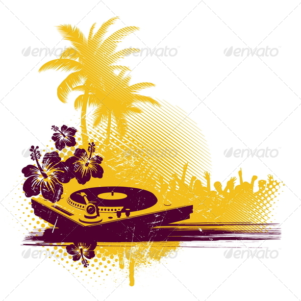Tropical Party - Objects Vectors