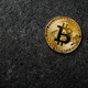 Bitcoin coin on black background - PhotoDune Item for Sale
