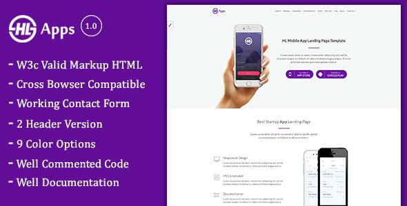 Image of HL - App Landing Page