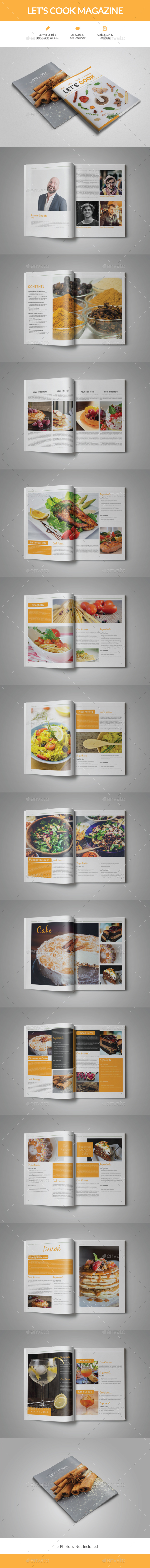 Let's Cook Magazine - Magazines Print Templates