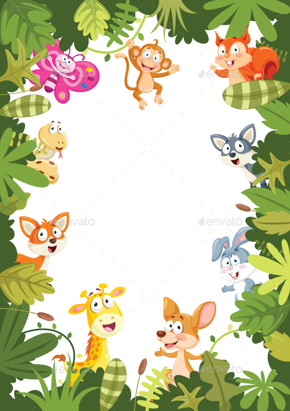 Cartoon Animals Banner - Animals Characters