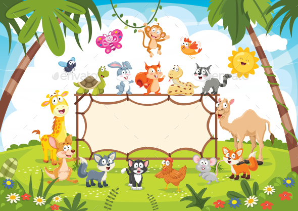 Animals Banner Vector Illustration - Animals Characters