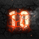 10-Second Countdown of Flame and Numbers in Asphalt - VideoHive Item for Sale