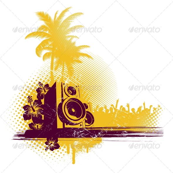 Loudspeakers in Tropics - Objects Vectors
