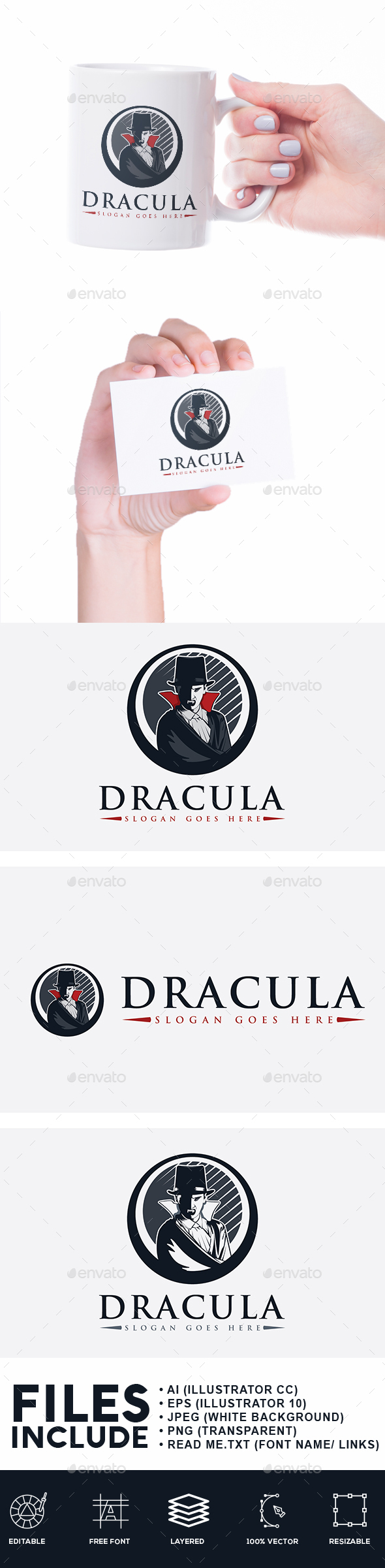 Dracula Logo - Humans Logo Templates