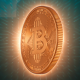 Bitcoin Digital Cryptocurrency Background - VideoHive Item for Sale