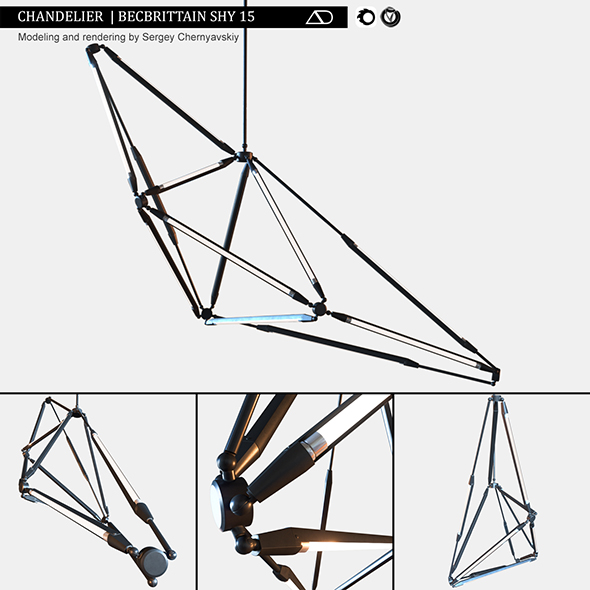 Chandelier Becbrittain SHY 15 - 3DOcean Item for Sale