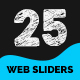 Multipurpose Web Sliders Pack - 25 Designs - GraphicRiver Item for Sale