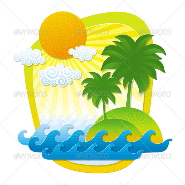 Tropical Landscape - Nature Conceptual