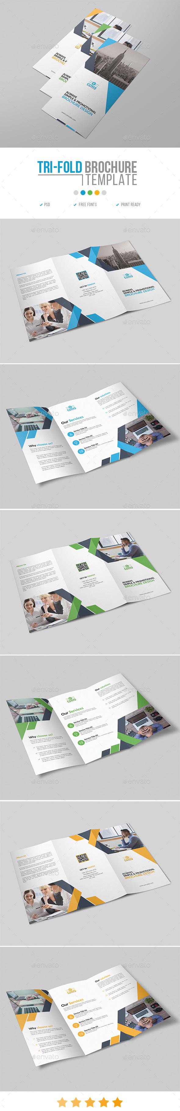 Trifold Brochure Template 28 - Corporate Brochures