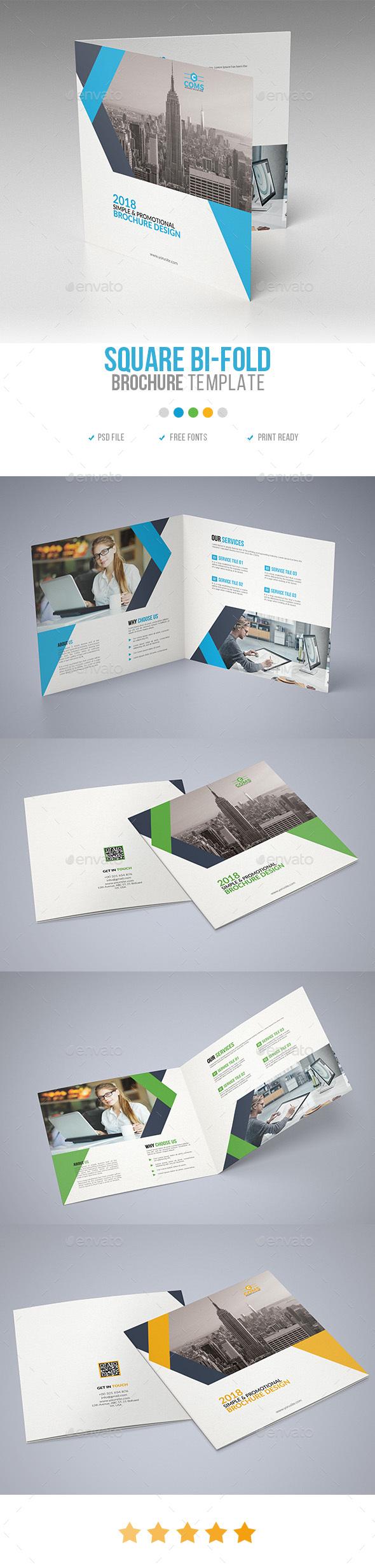 Corporate Square Bi Fold Brochure 05 - Corporate Brochures