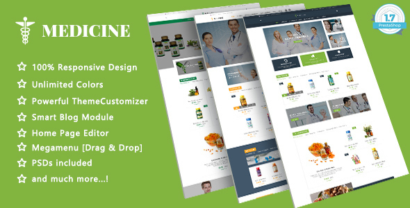 Image of Medicine - Health Care Responsive Prestashop 1.7 Theme
