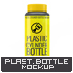 Plastic Cylinder Bottle Mock-Up