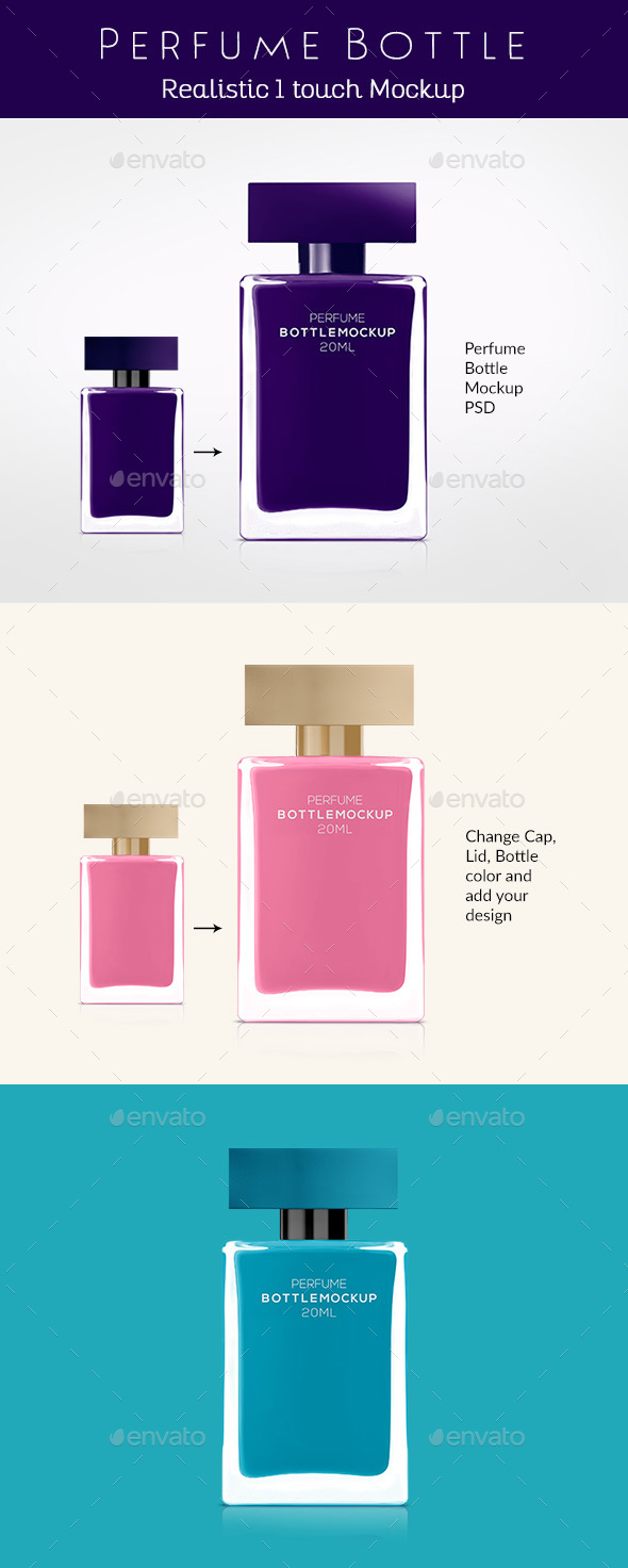 Perfume Bottle Mockup - Miscellaneous Packaging