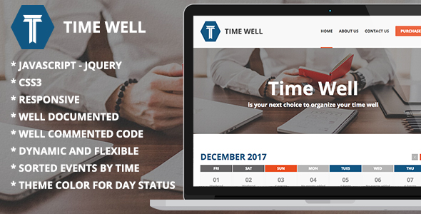 CodeCanyon Time Well Time & Daily Events Management jQuery plugin 21221609