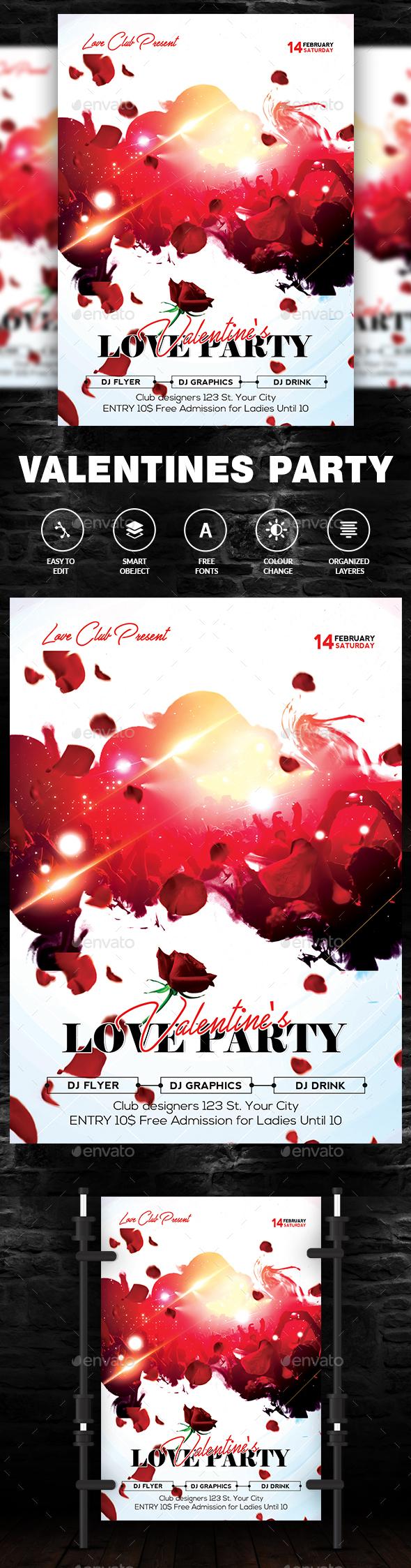 Valentine Flyer - Flyers Print Templates