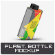 Square Plastic Bottle Mock-Up