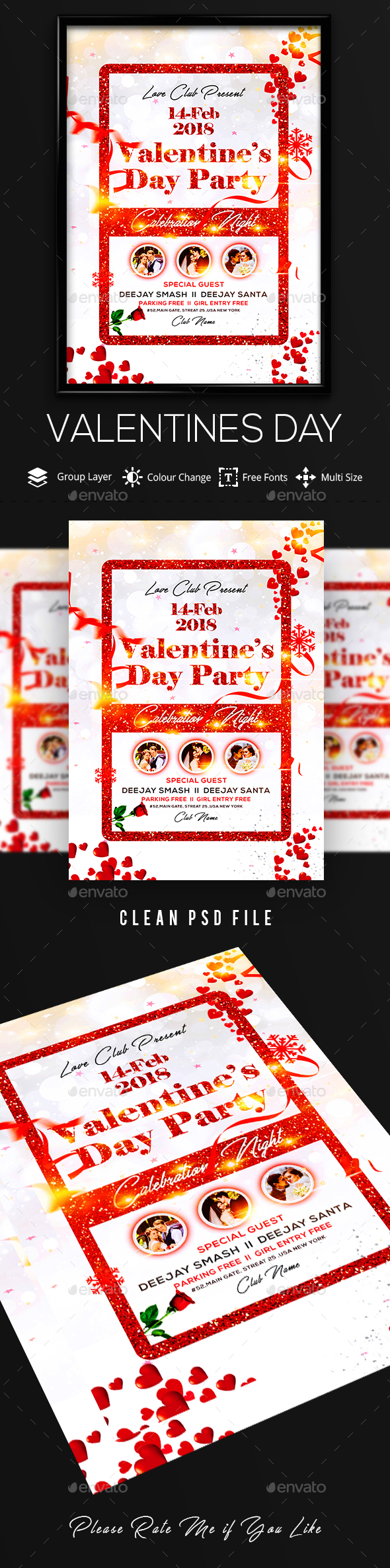 Valentine Flyer - Flyers Print Templates