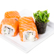 Salmon sushi roll with snow crab and cucumber. - PhotoDune Item for Sale