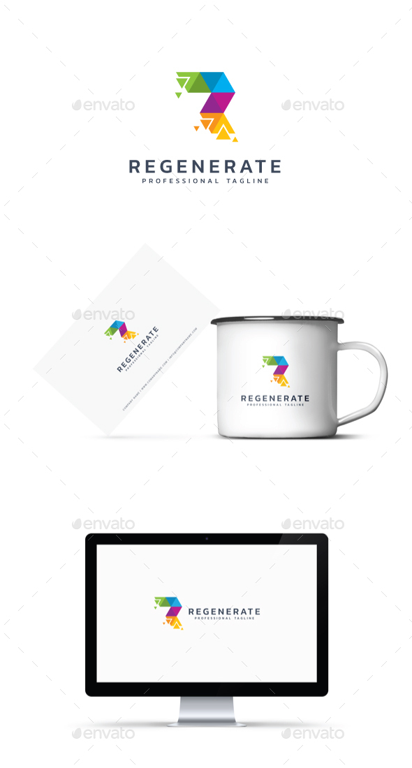 Letter R - Regenerate Logo - Abstract Logo Templates